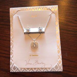 🆕NWT Vera Bradley April Earrings & Necklace Set🆕